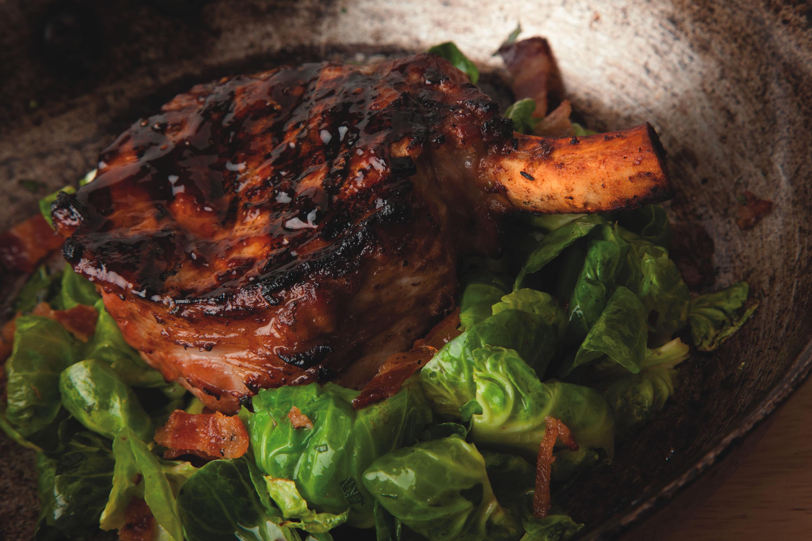 Hoisin-marinated pork chop at Paul Martin's American Grill
