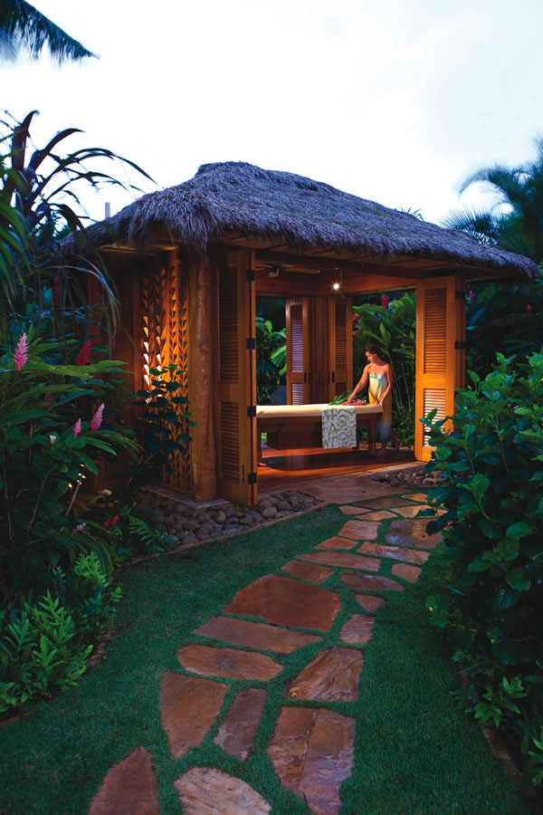Private garden bungalows are a feature at the Grand Hyatt's Anara Spa.
