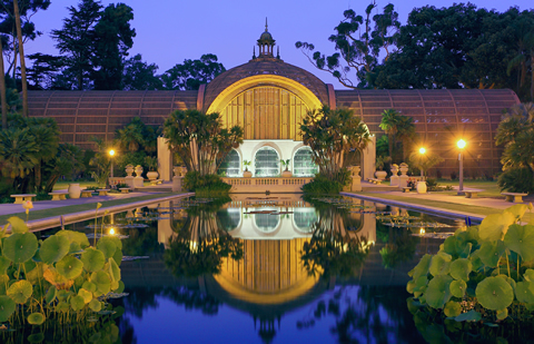 Balboa Park is a one-stop center of entertainment with museums, historic buildings, gardens and restaurants.