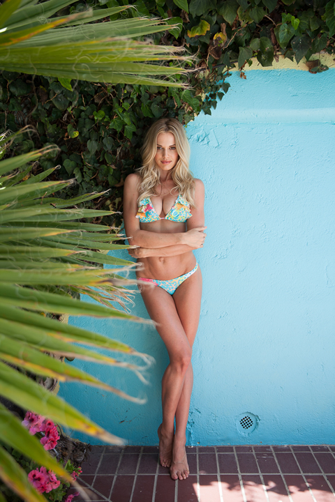 Tropical print bikini, $120, available at San Lorenzo Bikinis, Fashion Island