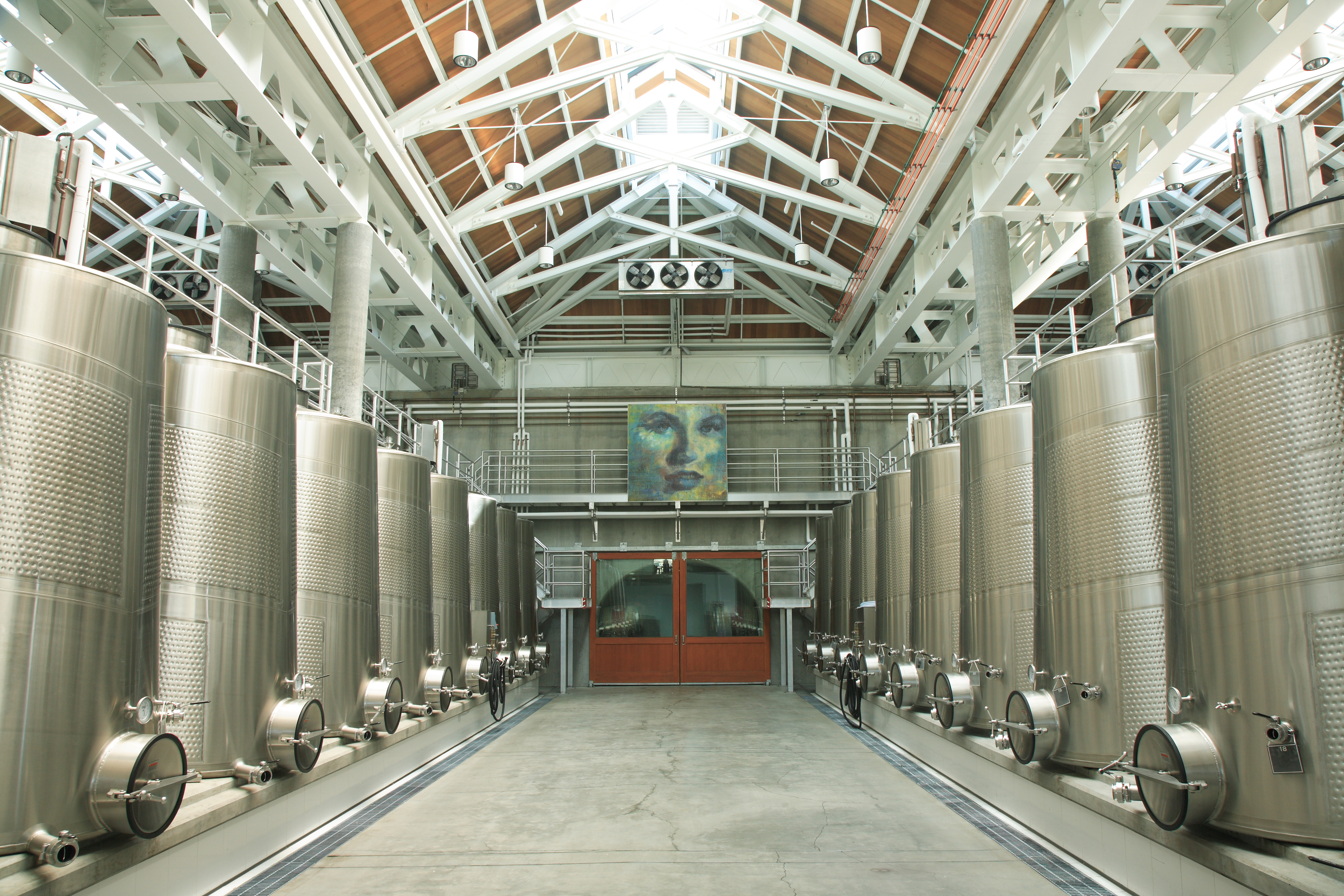 Cliff Lede Vineyards winery tank room