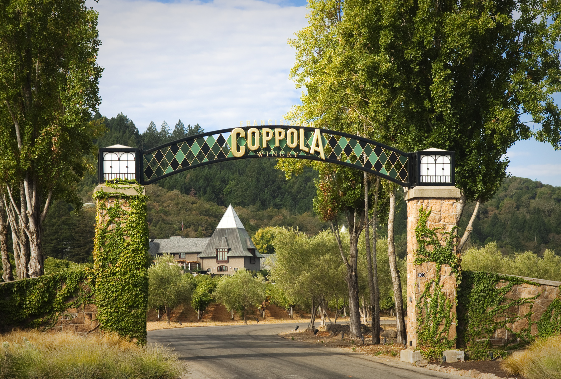 Frances Ford Coppola Winery attracts one of the most diverse crowds in Sonoma.