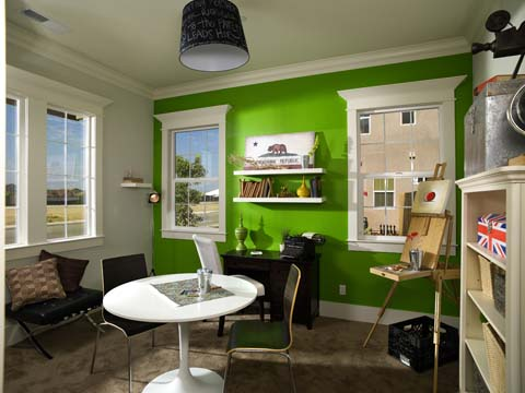 A bold wall color by Stiles Fischer Interior Design