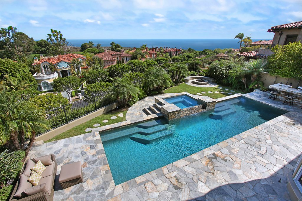 Backyard with view