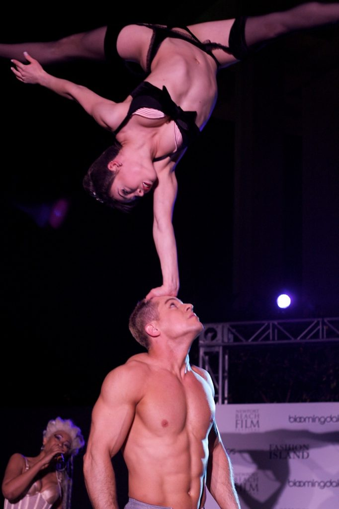 Acrobatic performances at after-parties
