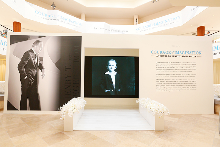 "Flowers during the ""Courage of Imagination"" exhibit honoring Henry T. Segerstrom at South Coast Plaza on Thursday, May 7, 2015, in Costa Mesa, Calif. (Photo by Ryan Miller/Capture Imaging for South Coast Plaza)"