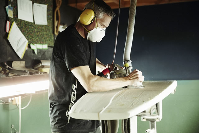 Mike Estrada, of Estrats Board Manufacturing Co.